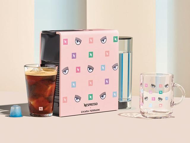Nespresso x Chiara Ferragni Essenza Mini Capsule-Coffee Maker