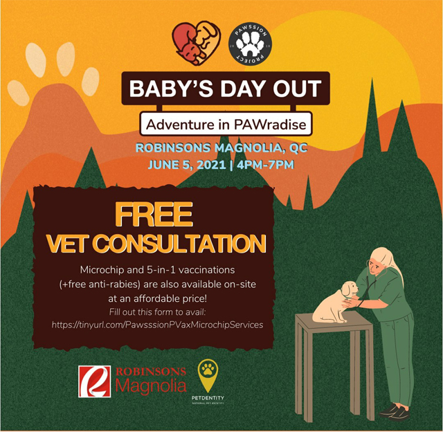 Baby's Day Out: Adventure in PAWradise pet adoption drive