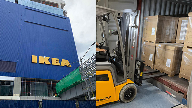 IKEA Philippines' first shipment of products