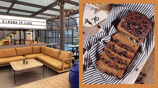 cinema '76 café and chocolate chip banana loaf