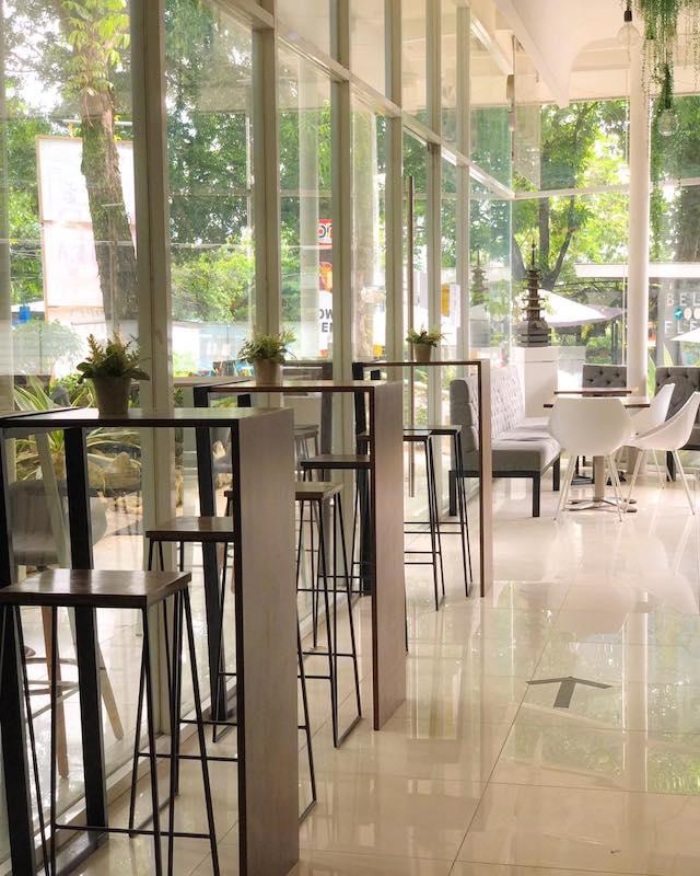 Dolce Cafe glass windows
