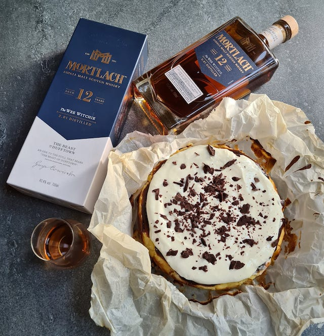 Mortlach Whisky Burnt Basque Cheesecake by Chef Chele's Kitchen