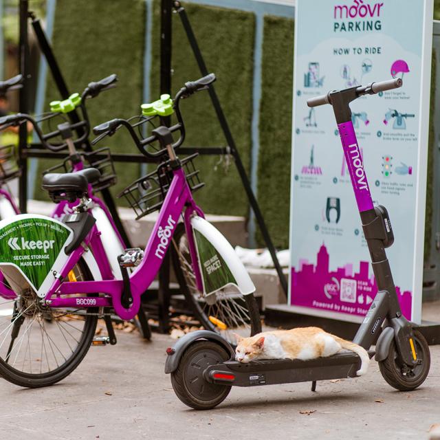 Bonifacio Global City Moovr Parking for Bikes and E-scooter