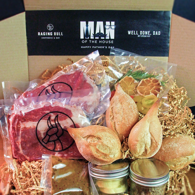 Well Done, Dad Grill-It-Yourself Steak Kit by Raging Bull Chophouse & Bar