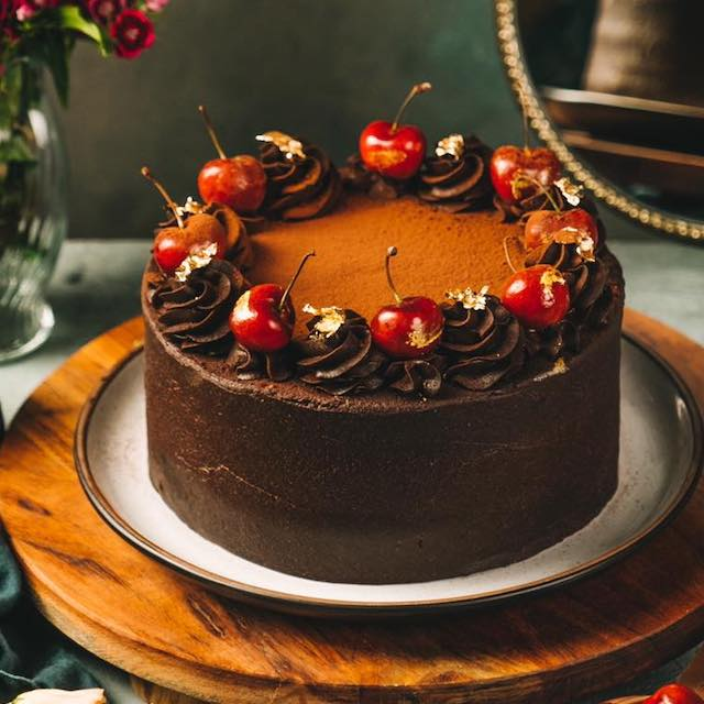 Luscious Chocolate Cherry Cake by Butternut Bakery