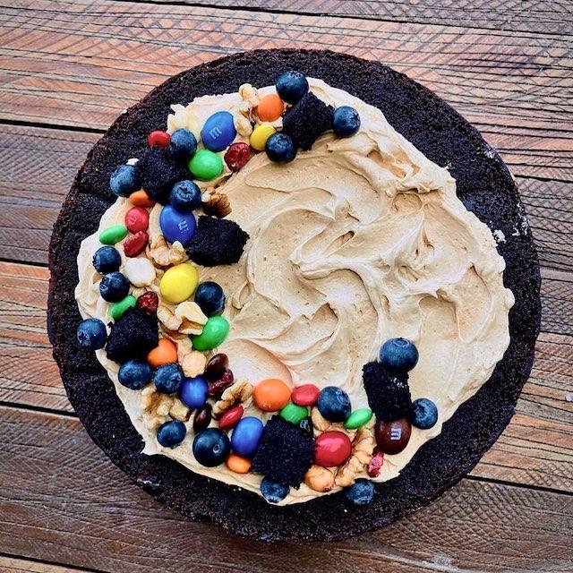 Brownie Trail Mix Cake by Flour Pot