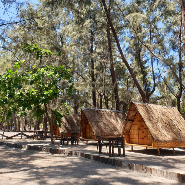 Crystal Beach resort features a glamping site for a more luxurious adventure