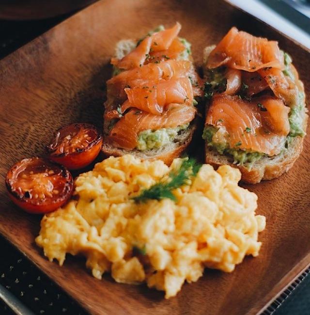 Salmon Avocado Toast from Gypsy by Chef Waya