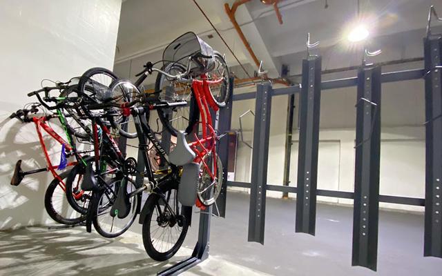 The Podium bike parking
