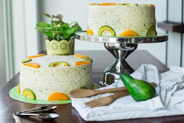 Chef Table Cafe's Green Tea Mango Avocado Cake