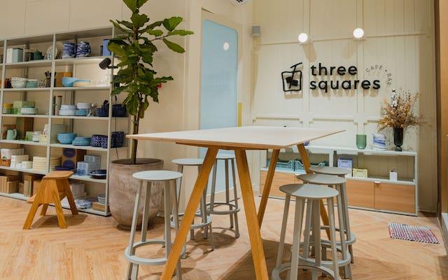 Three Squares Cafe + Bar interiors