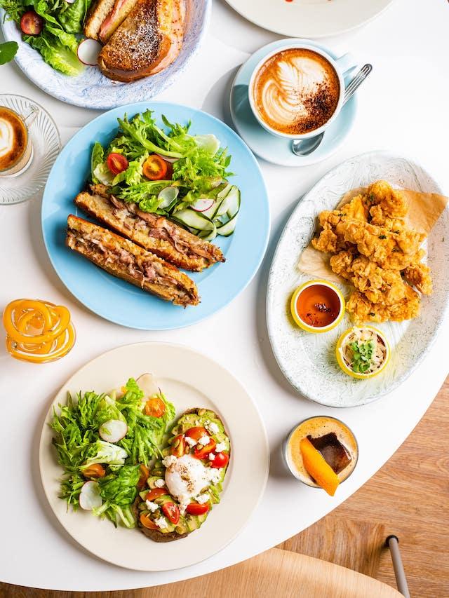 Three Squares Cafe + Bar food