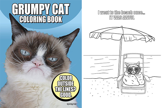 Grumpy Cat Coloring Book