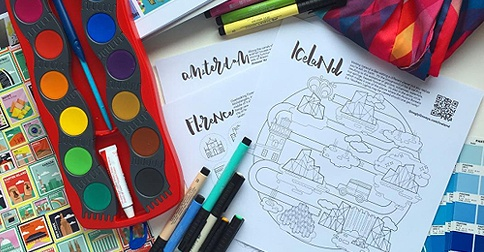 This Adult Coloring Book Will Take You Around The World