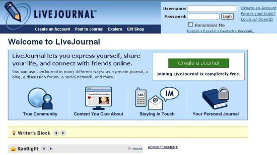 Social Media Live Journal