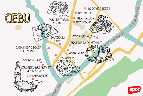 Cebu Food Crawl-map