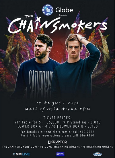 The Chainsmokers Manila