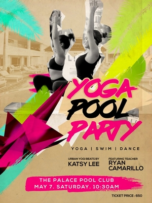 yoga pool party