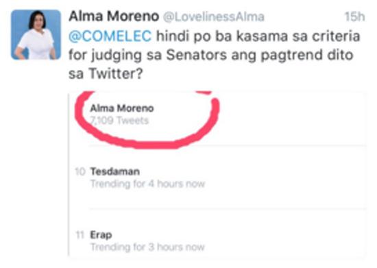 Alma Moreno Tweets