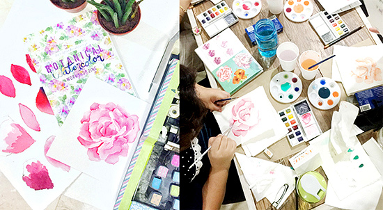 Botanical Watercolor (Basic) Workshop with Life After Breakfast