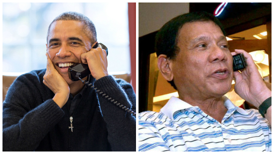 Obama phones Duterte