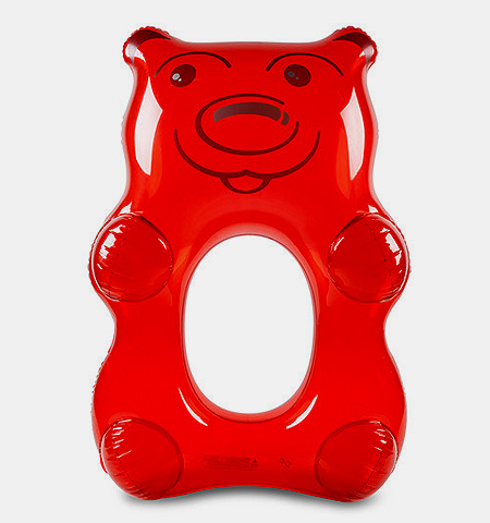 Giant Pool Float Red Gummy Bear
