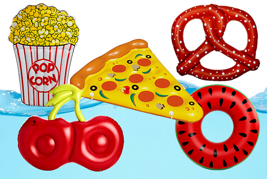 Food themed floaties