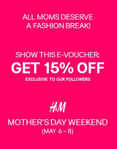 H&M Mother's Day Promo