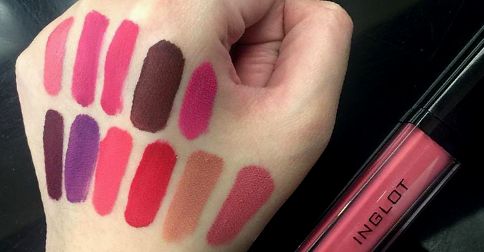 inglot hd lip tint matte swatches