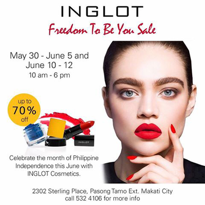 Inglot Freedom To Be You Sale