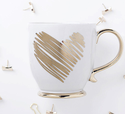 The Gorgeous Mess Gold Heart Mug