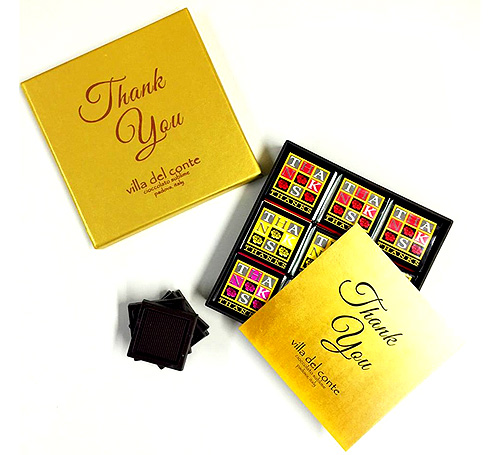 "Villa Del Conte ""Thank You"" Chocolates"