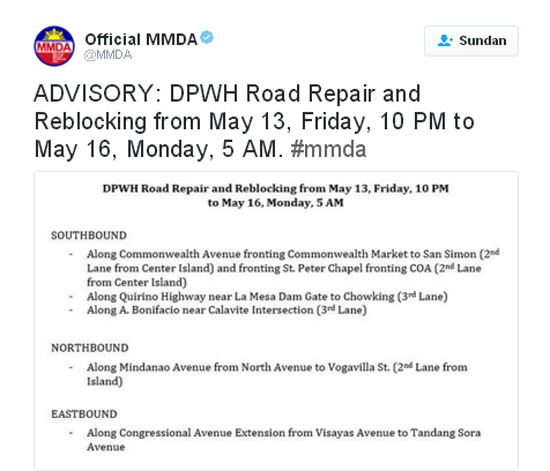 Twitter MMDA reblocking