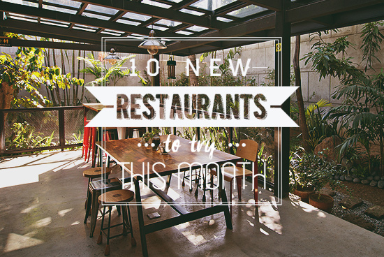 New restaurants in May