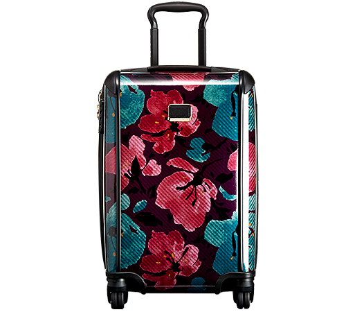 Tegra-Lite Peony Floral International Carry-On in Cayenne Tile Print from TUMI