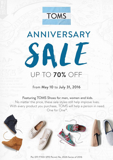 TOMS 10th Anniversary Sale