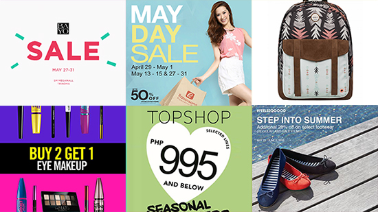 What's On Sale in Manila: May 31 onwards