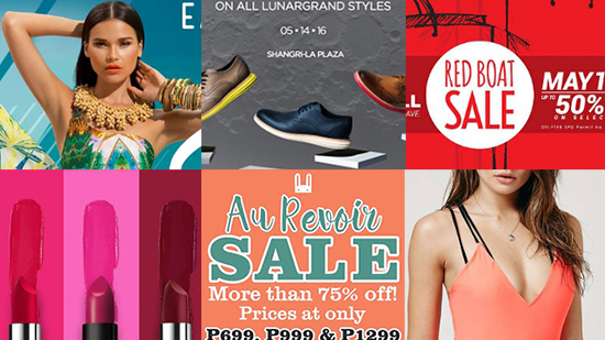 What's On Sale in Manila: May 13 onwards