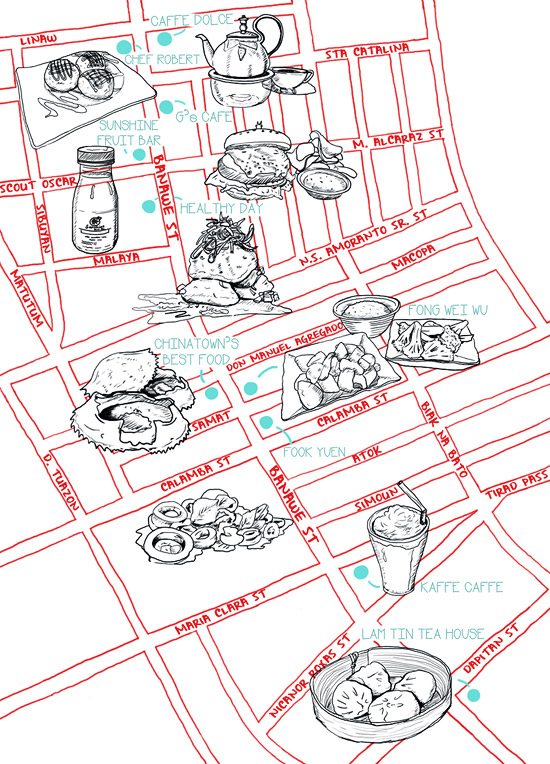 Banawe Street Food Map