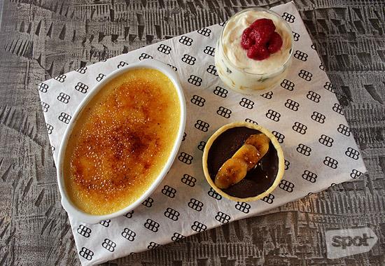 Creme Brulee, English Trifle, Banana & Toffee Tart from Bondi & Bourke