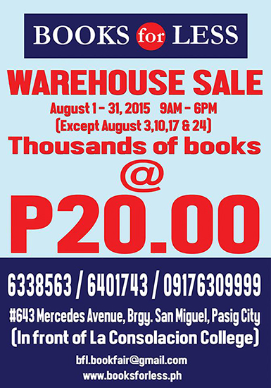 Books for Less Warehouse Sale Poster