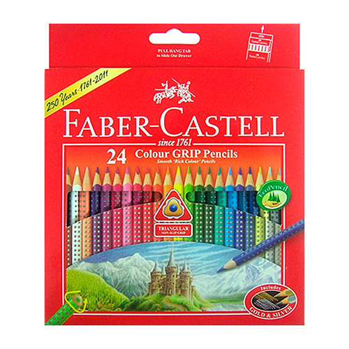 Faber-Castell Colour GRIP + Brush Watercolour Pencils