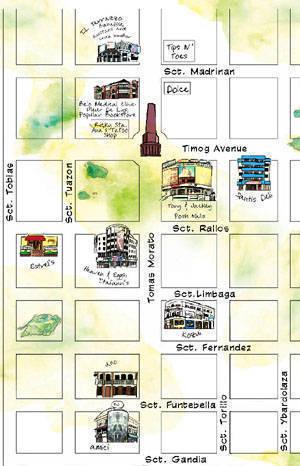 Map of Tomas Morato and Timog