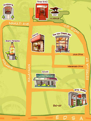 Map of Rockwell-Palm Village area