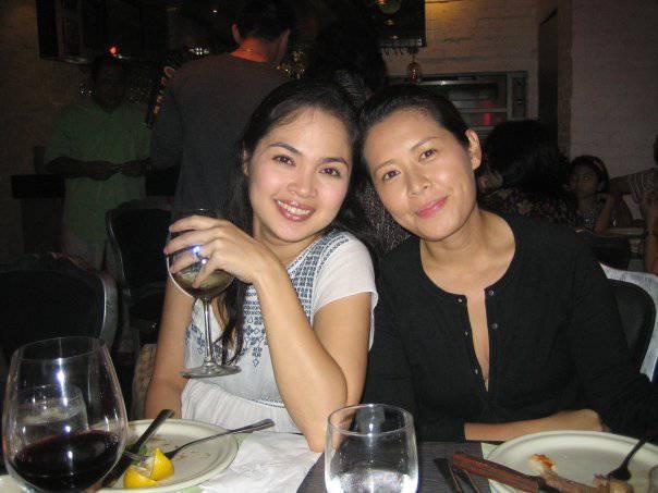 Judy Ann Santos-Agoncillo and Denise Go-Ochoa, wife of Dominic