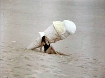Mel Chionglo's early work: the giant ice cream cone in Temptation Island