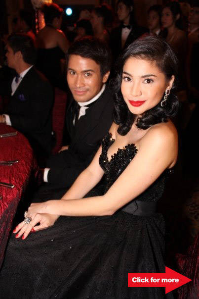 Reunited? Sam Milby and Anne Curtis, who wore a Maxi Cinco gown.