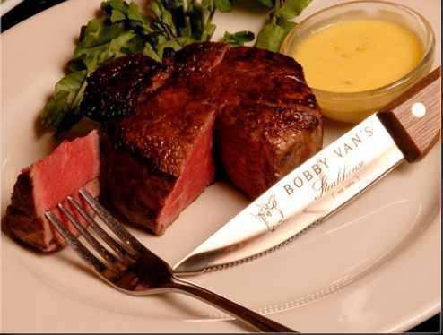 The Filet Mignon at Bobby Van's Steakhouse, $39