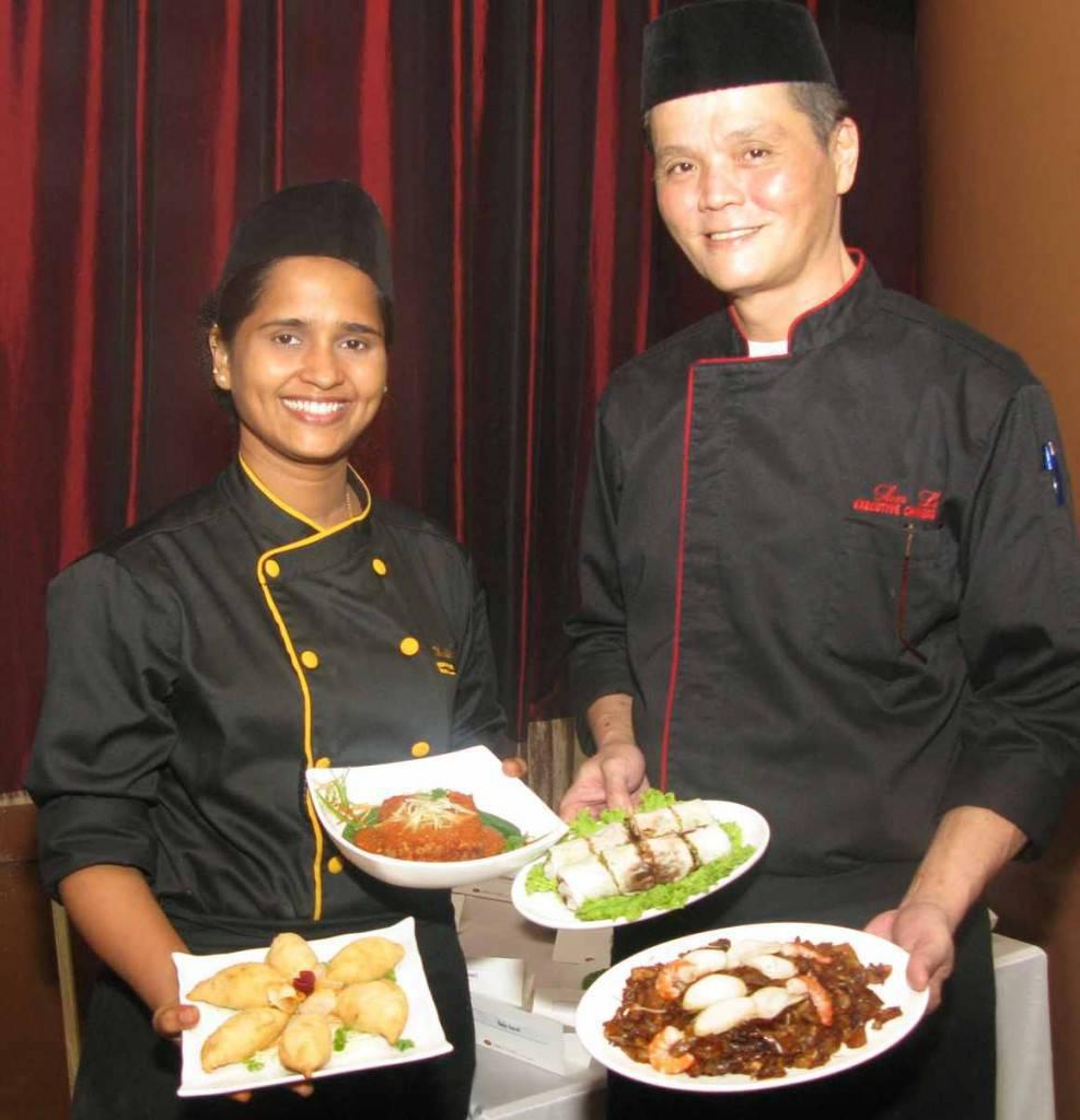 Singaporean Chefs Anita Rajan and Sam Lee