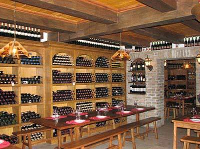 Galileo Enoteca has an extensive selection of wine to go with your cheese and cold cuts.